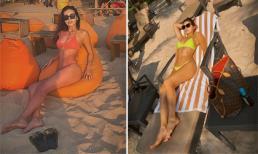 Minh Tú thảnh thơi diện bikini khoe body gợi cảm trên bãi biển