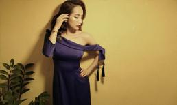 'Cá sấu chúa' Quỳnh Nga quyến rũ trong thiết kế áo dài Tết lệch vai