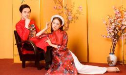 Vợ chồng Dương Khắc Linh - Sara Lưu ngọt ngào diện áo dài mừng năm mới