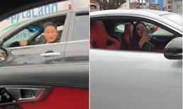 Á hậu Huyền My tự tay cầm lái ô tô ra đường, bị diễn viên Minh Tiệp bắt gặp