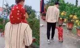 Quế Ngọc Hải hào hứng dẫn con gái đi chợ Tết chọn hoa đào