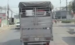 Mặc xe cứu hỏa hú còi, phát loa liên tục, xe tải vẫn 'giả điếc' quyết không nhường đường