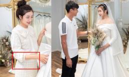 Phan Văn Đức đưa Nhật Linh đi thử váy cưới, vòng 2 lùm lùm của cô dâu khiến dân tình chú ý