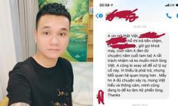 Khắc Việt nhắc nhẹ người nợ tiền mình: 'đừng để mọi việc nó đi xa quá sự kiên nhẫn của tôi'