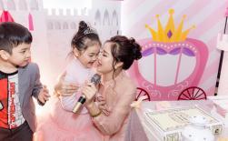 Maya tổ chức sinh nhật ngập sắc hồng cho con gái