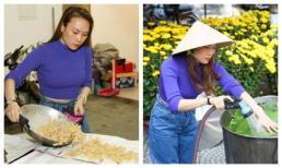 Sau chuyến từ thiện tại quê nhà, Mỹ Tâm quây quần nấu bánh và làm mứt bên gia đình