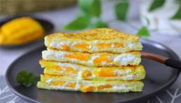 Bữa sáng làm nhanh 5 phút, với món bánh mì phủ trứng nhân xoài và sữa chua tươi mát, bổ dưỡng