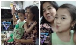Mẹ Mai Phương tự gửi hình ảnh thân thiết với cháu gái đến một page showbiz, khẳng định sẽ đón về chăm sóc