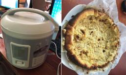 Làm bánh bông lan bằng nồi cơm điện: Bánh hỏng, cháy khét luôn cả nồi, dân mạng chỉ ra sai lầm