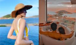 Lê Hà nóng bỏng cùng chồng tận hưởng chuyến du lịch lãng mạn