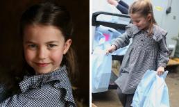Công chúa Charlotte mới 5 tuổi đã biết đi phát đồ từ thiện giữa mùa dịch nhưng dân mạng lại nhắc khéo vợ chồng Công nương Kate điều này