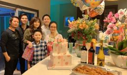 Vợ cũ Bằng Kiều đến mừng sinh nhật mẹ chồng tại nhà