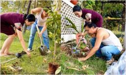 Giàu có hàng đầu showbiz Việt nhưng vợ chồng Trịnh Kim Chi cũng đích thân cuốc đất, trồng cây