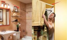 Người thông minh sẽ trang trí phòng tắm thế này: Thêm một thanh ngang bên ngoài buồng tắm, siêu tiện lợi