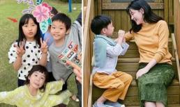 Khoảnh khắc cặp song sinh nhà Lee Young Ae vui chơi ở vườn nhà được hé lộ, ai cũng bất ngờ về diện mạo
