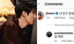 Lee Min Ho lộ cuộc trò chuyện ngọt ngào với nhân vật lạ mà quen