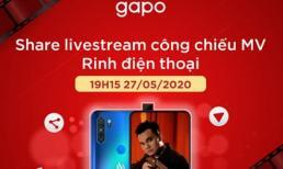 Rinh điện thoại Vsmart Active 3 khi xem livestream MV mới của Khắc Việt trên Gapo