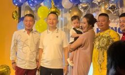 Nghệ sĩ Công Lý đến chúc mừng sinh nhật con của 'diễn viên đanh đá nhất miền Bắc' Thu Huyền