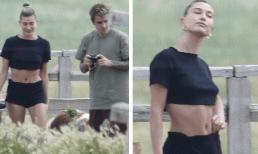 Vòng một khác lạ của bà xã Justin Bieber khi đi cắm trại cùng chồng