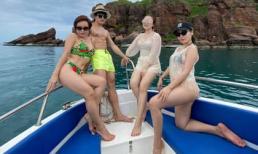 Hội bạn thân Uyên Linh - Phương Linh 'đọ' body siêu nóng bỏng trên biển Phú Quốc