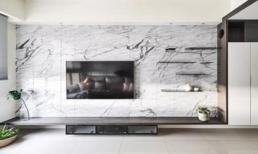 Không nên ốp đá cẩm thạch trên tường TV, người thông minh giờ sử dụng chất liệu khác, vừa tiết kiệm tiền vừa thiết thực