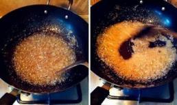 Khi chiên đường: Cho dầu trước hay đường trước? Nhiều người đã sai, không có gì lạ khi không có màu caramel chuẩn vị ngon!