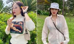 Trang phục gây 'nhức mắt' của Hoa hậu Kỳ Duyên khi đi du lịch: Hết xuyên thấu lộ nội y đến hình in nhạy cảm