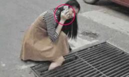 Bị thụt chân xuống cống và được mọi người sốt sắng giải cứu, nhưng hành động của cô gái lại khiến mọi người vô cùng bức xúc
