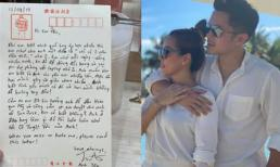 Hoa hậu Thu Hoài hé lộ bức thư viết tay cực dễ thương của bạn trai