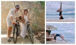 Đi du lịch cùng chồng, Ốc Thanh Vân tranh thủ khoe dáng nóng bỏng với những thế yoga cực đỉnh