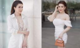 Nửa kín, nửa hở người mẫu Linh Phương khoe vẻ đẹp gợi cảm
