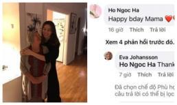 Chưa chính thức vào nhà nhưng Hà Hồ đã thể hiện mối quan hệ cực tốt với mẹ chồng người Thụy Điển