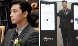 Đã lâu lắm rồi Park Seo Joon mới quay lại hình ảnh lịch lãm như thế này, đúng chuẩn chàng 'Phó Chủ tịch'