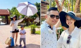 Jennifer Phạm 'tay xách nách mang' khi đi du lịch cùng gia đình chồng ở Đà Nẵng