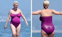 Sắp 'vỡ chum', Katy Perry lộ thân hình xập xệ khi đi tắm biển cùng Orlando Bloom