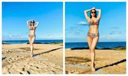 Khánh Thi gây 'ngộp thở' với đường cong mướt mắt khi diện bikini, tiết lộ cân nặng như mơ