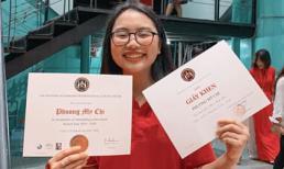 Phương Mỹ Chi khoe thành tích học tập 'khủng', ngoài giấy khen còn nhận được cúp học sinh tiêu biểu