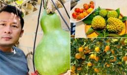 Ca sĩ Bằng Kiều khoe hoa quả thu hoạch trong vườn nhà, nhìn là mê