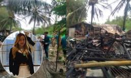 Hoa hậu Thanh Thúy ủng hộ cho 3 gia đình bị cháy nhà được xây nhà mới