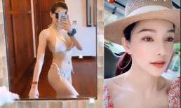 Mặc thị phi, Lưu Đê Ly vẫn thả dáng bốc lửa với bikini hai mảnh ở Đà Nẵng