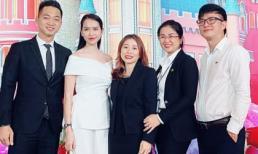 Doanh nhân Minh Hạnh cùng chồng ở buổi giới thiệu dự án Wonderland