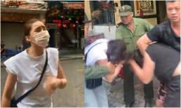 Xôn xao hình ảnh Lưu Đê Ly ẩu đả, giật tóc với anti-fan trên phố Hàng Buồm