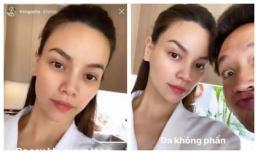 Đang bầu ở tháng cuối, Hà Hồ khoe mặt mộc 'xinh quá xinh' nhưng Kim Lý mới chiếm spotlight vì độ lầy