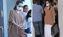 """Angelina Jolie được ví như """"bộ xương di động"""" trong bộ trang phục rộng thùng thình"""