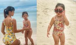 Con gái Hà Anh chiếm spotlight của mẹ vì thần thái ngày càng giống siêu mẫu nhí