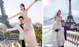 Ảnh cưới của Âu Hà My - Trọng Hưng lại bị phát hiện y hệt concept của Huỳnh Hiểu Minh - Angela Baby