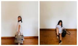 """10 tuổi, con gái Lưu Hương Giang đã tự """"mix"""" đồ căng đét như fashionista"""