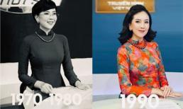 Mai Ngọc tái hiện hình ảnh MC Thời Sự VTV qua 50 năm