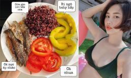 Vợ Tiến Dũng (The Men) thực hiện chế độ Eat clean để giảm cân, nhìn món ăn đẹp mà ngon khiến chị em mê tít