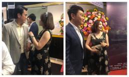 Cao Minh Đạt hiếm hoi dẫn vợ dự họp báo phim, nhan sắc qua camera thường mới bất ngờ